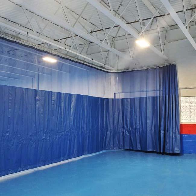 walk draw gym divider curtain keeper