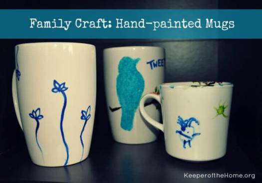 These Hand Painted Mugs Are A Fun Afternoon Craft They Make Great Gifts That