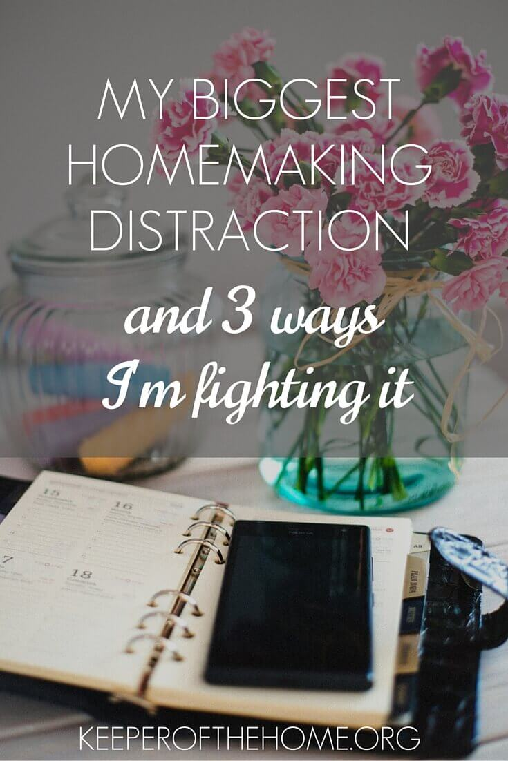 Do you have a homemaking distraction? I sure do, and here's what it is...and how I'm fighting it.