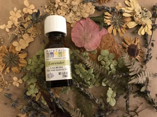 Dried flowers and the essential oil needed for fragrance