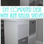 Ikea Hack Diy Computer Desk With Kallax Shelves Keeping It Simple