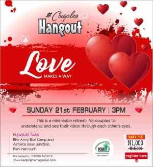Valentine special program for couples.