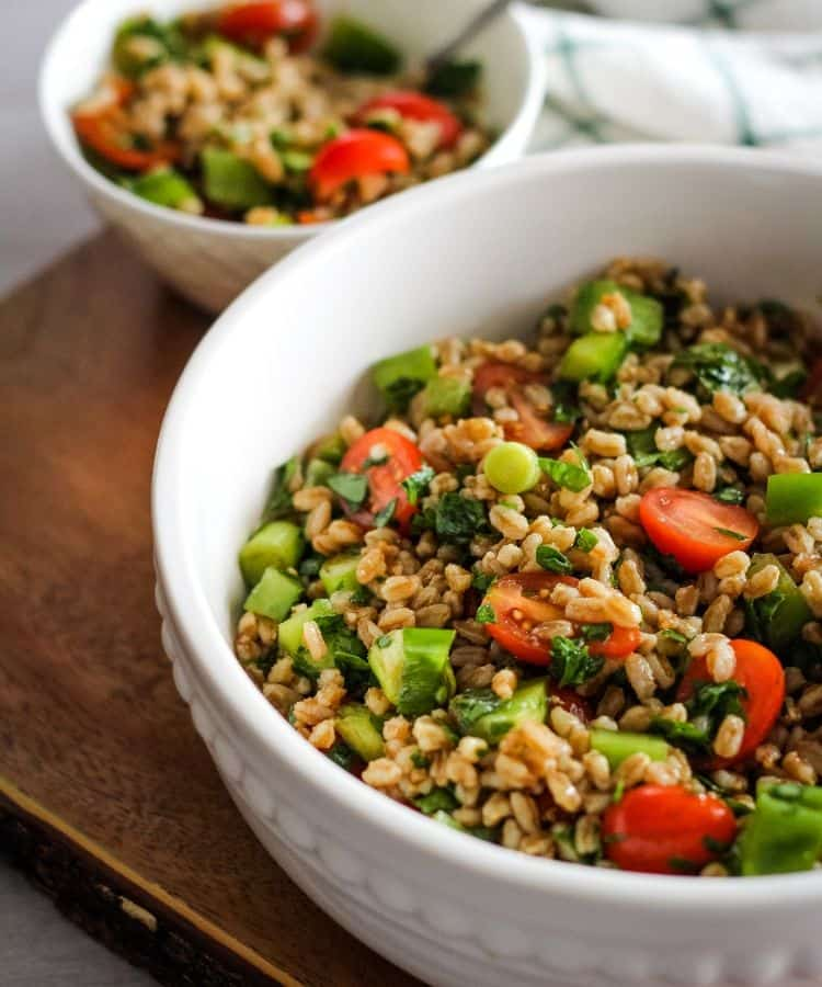 how to cook farro salad