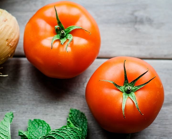 tomatoes and mint