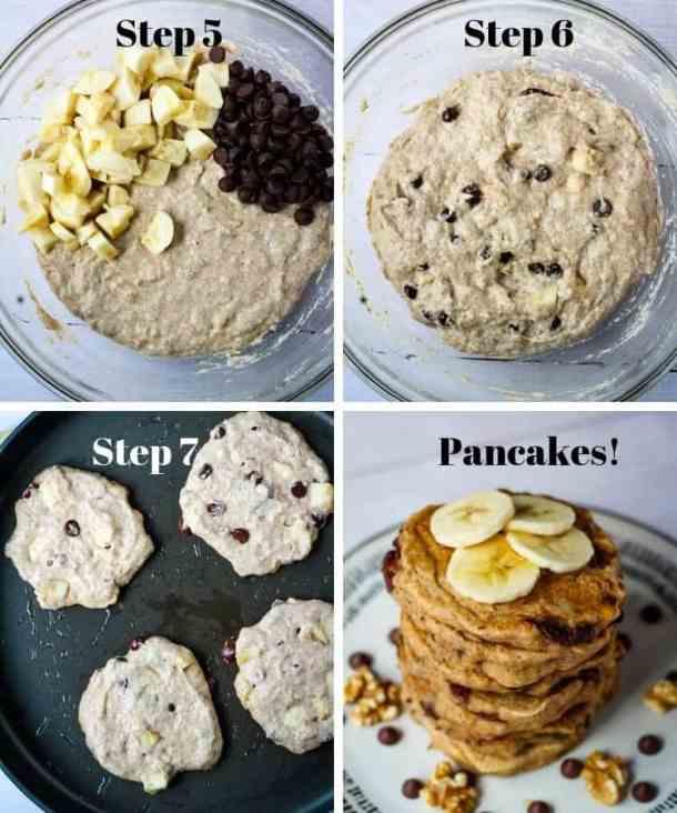 pancake mix, pancakes on griddle