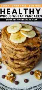 vegan whole wheat pancake pin