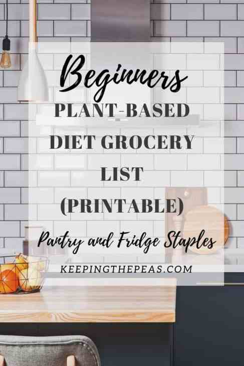 vegan grocery list for beginners