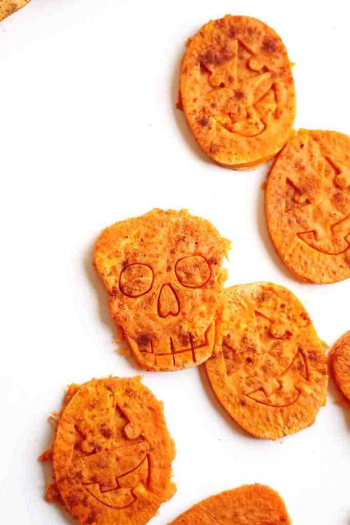 halloween sweet potato cookies