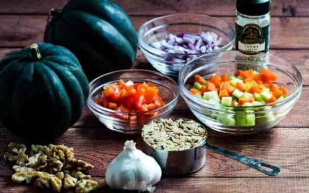vegan stuffed acorn squash ingredients