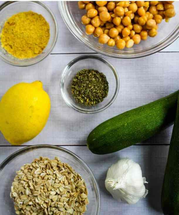chickpea meatball ingredients