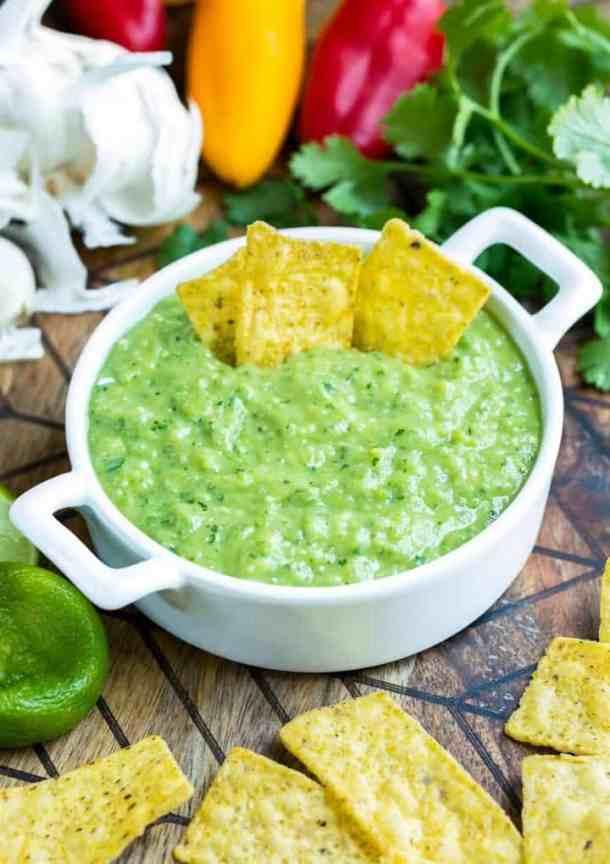 avocado salsa easy vegan appetizer