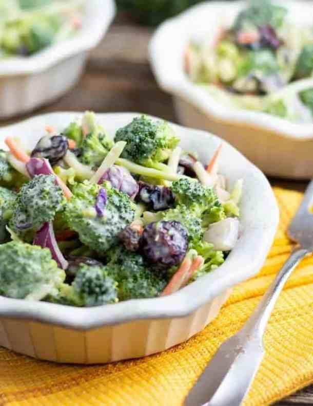 vegan easter recipes-broccoli slaw