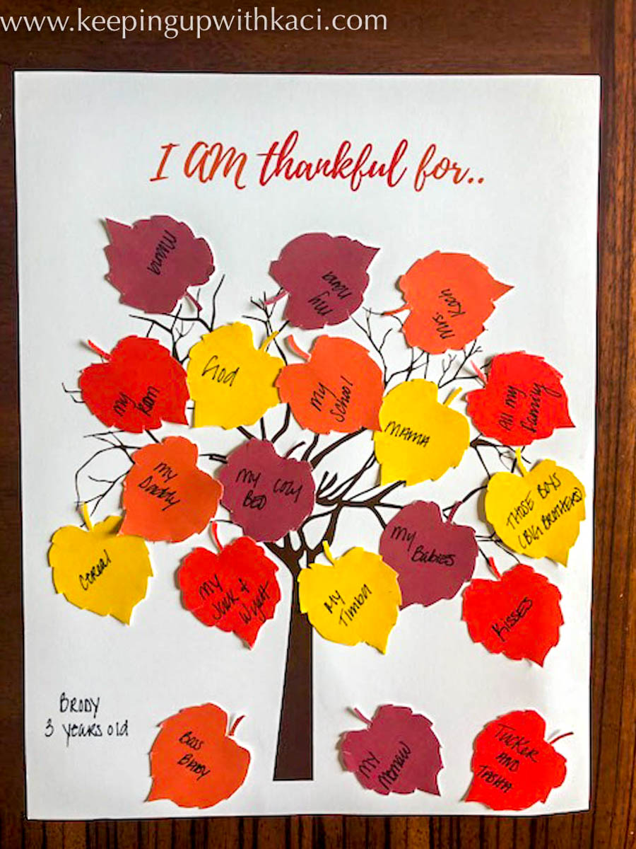 photo about Thankful Tree Printable called Absolutely free Printable Grateful Tree - Maintaining Up With Kaci