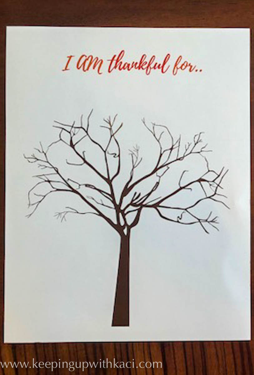 graphic about Thankful Tree Printable named Absolutely free Printable Grateful Tree - Trying to keep Up With Kaci