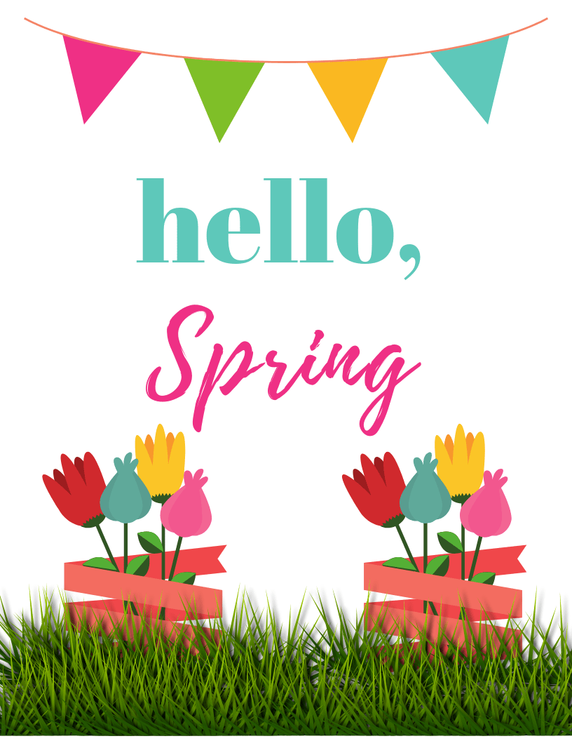 picture about Spring Printable referred to as Hi there Spring, 2 Absolutely free printables - Trying to keep Up With Kaci