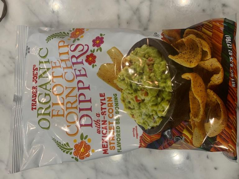 A great Trader Joe's snack: Trader Joe's Organic Elote Corn Chip Dippers