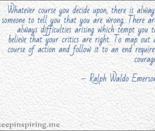 Ralph Waldo Emerson Quotes About Not Giving Up