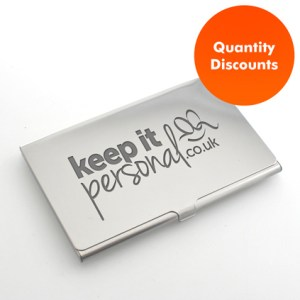 Full Colour Printed Personalised Business Card Holder Logo Engraved Personalised Business Card Holder