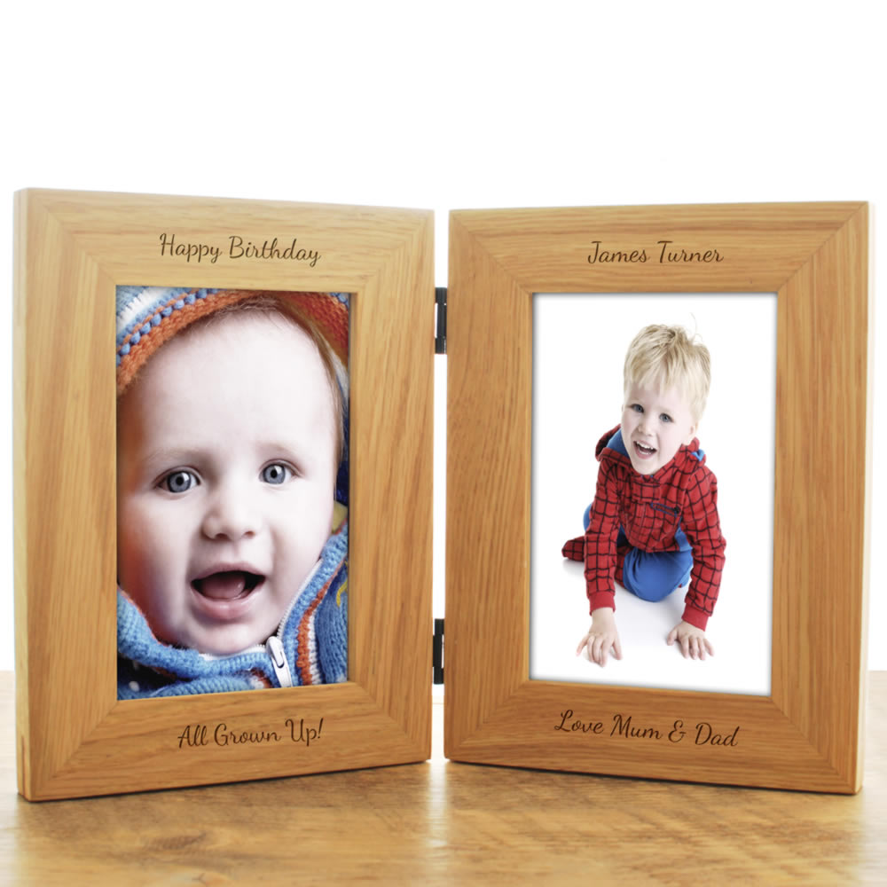 Personalised Double Wooden Frame