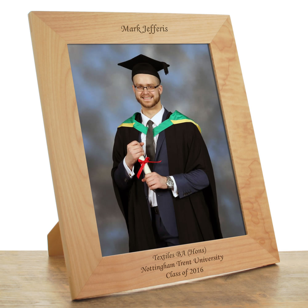 Personalised Wooden Graduation Photo Frame 10x8