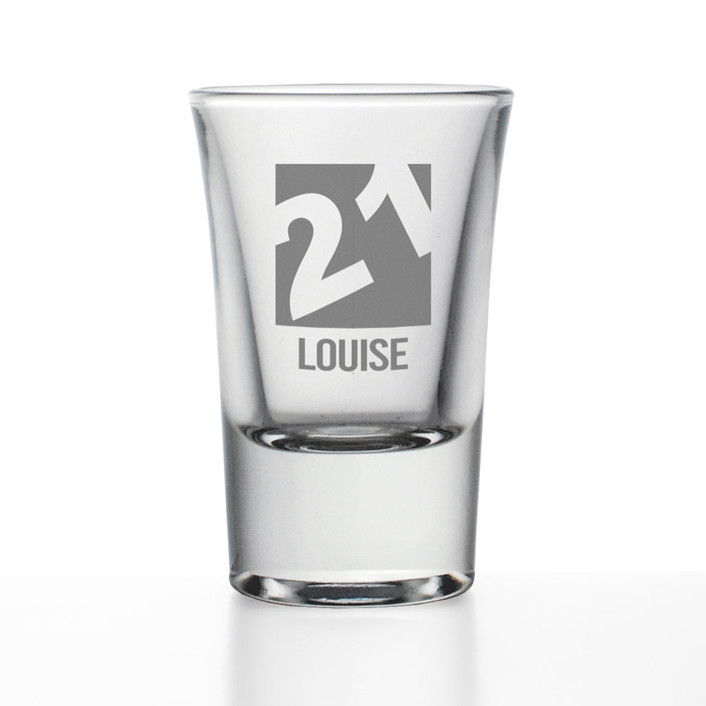 Personalised Shot Glass 21st Birthday