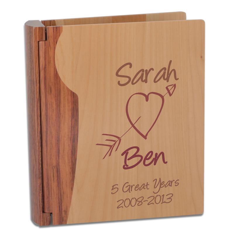 Personalised Wooden Anniversary Photo Album