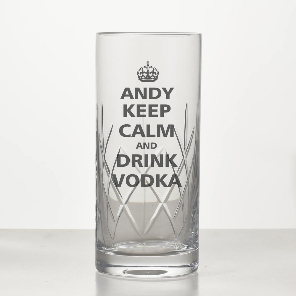 Keep Calm Personalised Vodka Glass