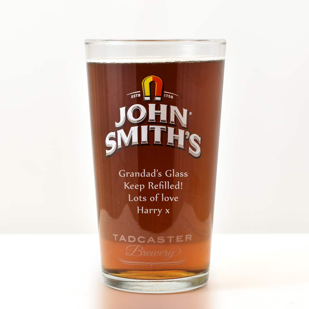 Personalised John Smiths Glass