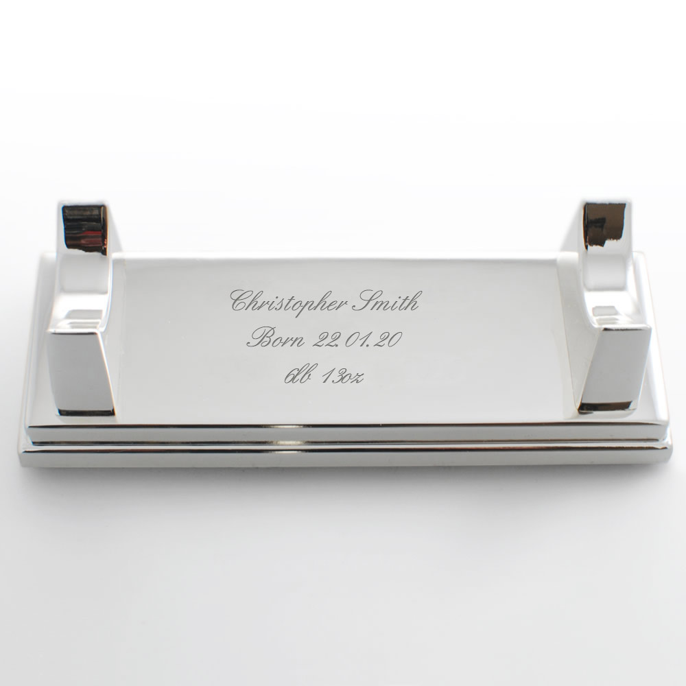 Personalised Birth Certificate Holder And Stand Engraved