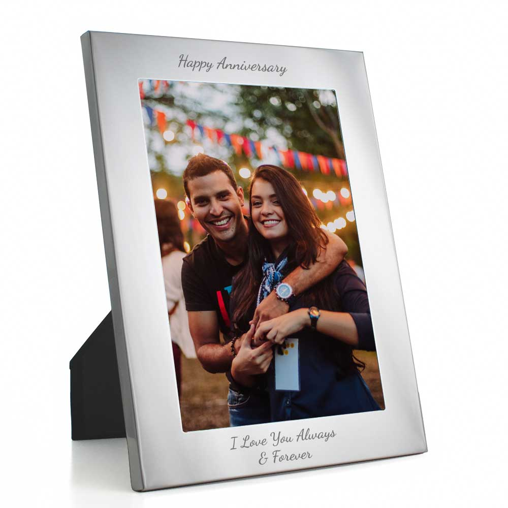 Engraved Silver Photo Frames Engraved Wedding Present