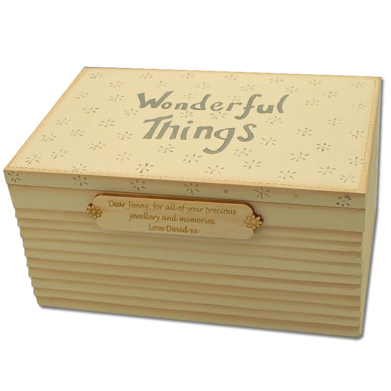 Wonderful Things Personalised Jewellery Box Engraved By
