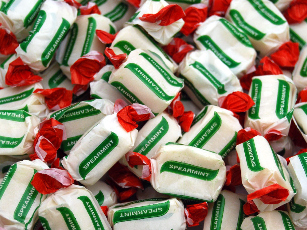 Spearmint Chews Mint Flavoured Sweets Keep It Sweet