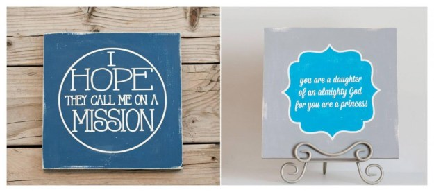 LDS-themed signs from Addyson Lane Boutique