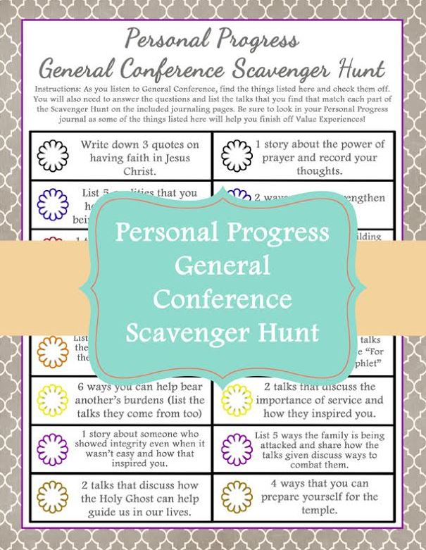 Personal Progress Scavenger Hunt