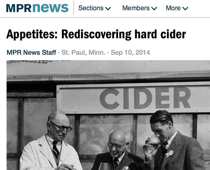 REDISCOVERING HARD CIDER WITH MPR