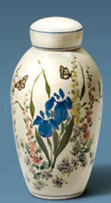 Hand Painted Flowers On Urns By Artist David Voorhees