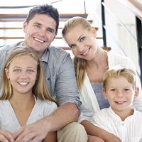 A family happy with Dr. Shapiro's patient centered health care.