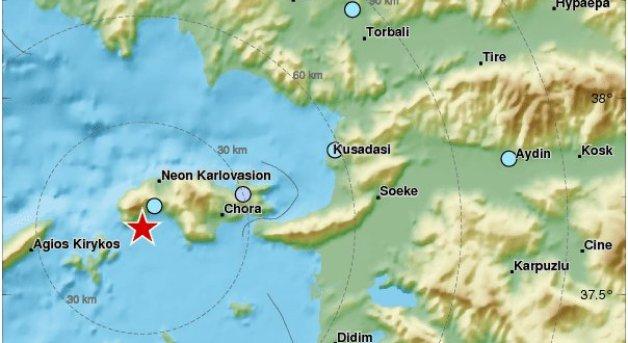 Two earthquakes rattle Samos island and the eastern Aegean Sea