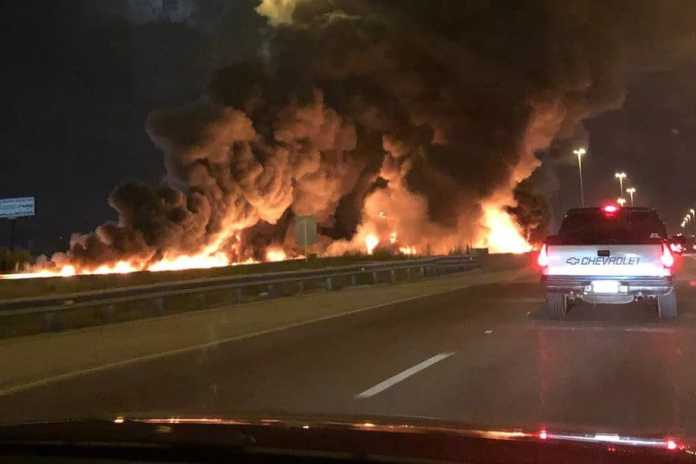 KeepTaxisAlive Org - News - Taxi bursts into flames after a