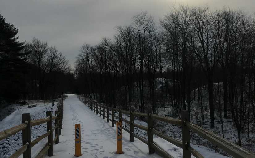 A  Wintry Walk On The Last Day Of 2016 On The Local Rail To Trails.