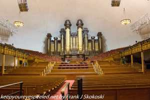 Organ and interior of Mormon Tabernacle Salt Lake City