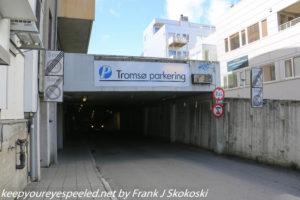 entrance to underground tunnel parking