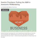 My Perspective on PR + Marketing; 'Heart of Business' Interview