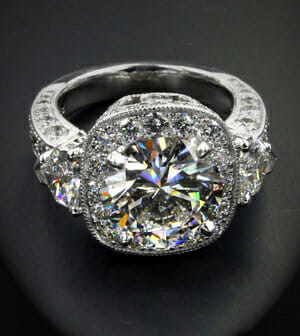 Reset Remount Diamond Engagement Ring Boston Keezing