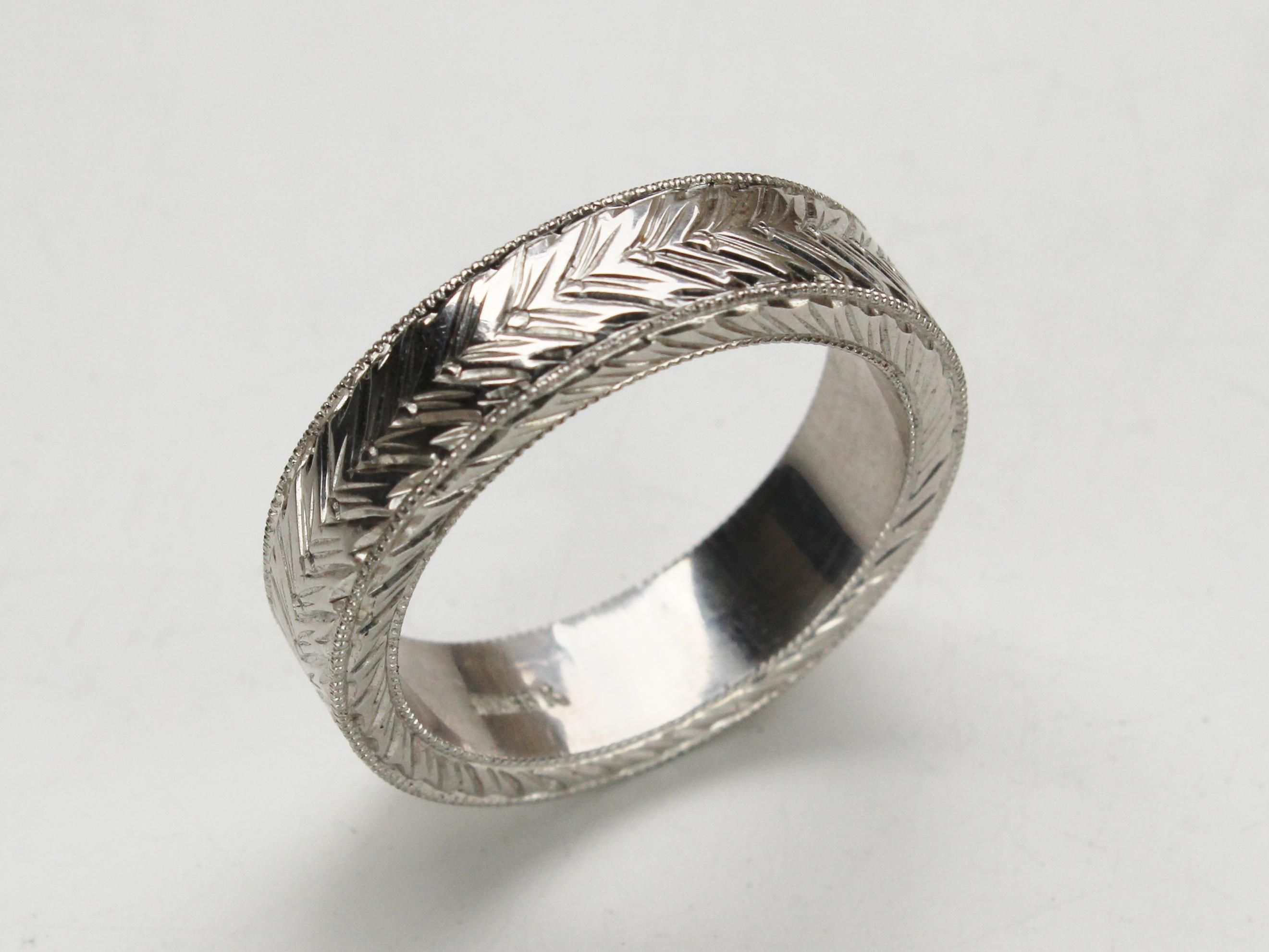 Mens Carved Ring Keezing Kreations Boston MA