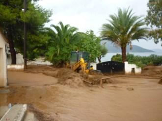 Πλημμύρες στην ευρύτερη περιοχή Σάμης