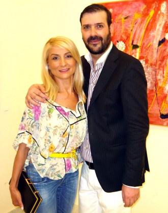 o Mιχαήλ Ρωμανός με την Μαίρη Απαπίτσα