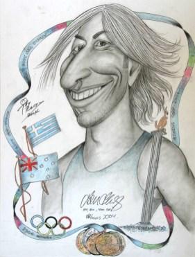 Ο Τόνι έκανε και το σκίτσο του μεγάλου Αυστραλού Ολυμπιονίκη Ιαν Θορπ, στους Ολυμπιακούς της Αθήνας.