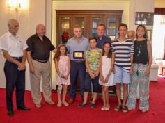 Ο Δήμαρχος τίμησε τον ηρωικό καπετάνιο Σπύρο Πεφάνη