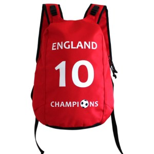 England backpack for kids, football, soccer no. 10, champions